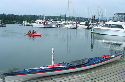 USCG Auxilliary Kayak outfitted with a Shine Micro transponder for MDA