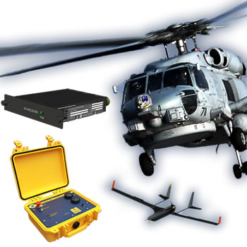 SA161-MH MIL-Spec dual AIS receiver for aircraft with ST162-T1 portable AIS test set, MH60 helicopter and Insitu Integrator UAV