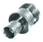 Type N female to BNC female barrel adapter