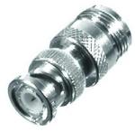 Type N female to BNC male barrel adapter