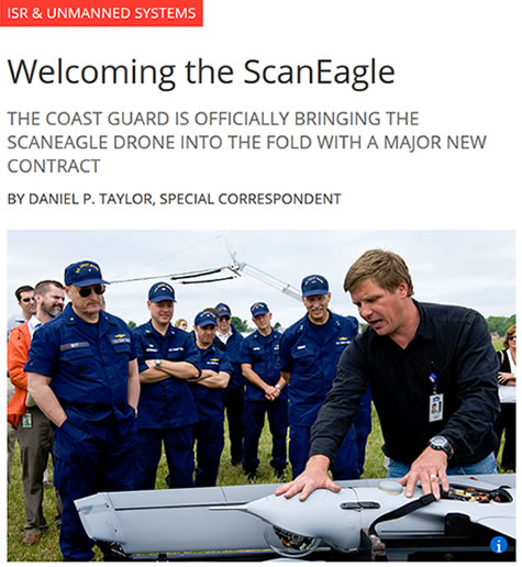ISR & Unmanned Systems USCG Welcoming ScanEagle