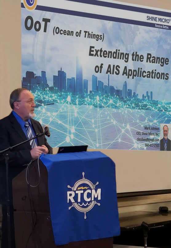 Shine Micro presents Weather over AIS at RTCM 2019